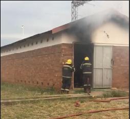 Meiringspark Powerstation on fire