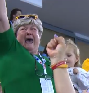 TRIEST MOM IN TEARS WHEN DAUGHTER WINS GOLD