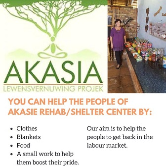 AKASIA SHELTER IN DIRE NEED OF THE COMMUNITY'S HELP