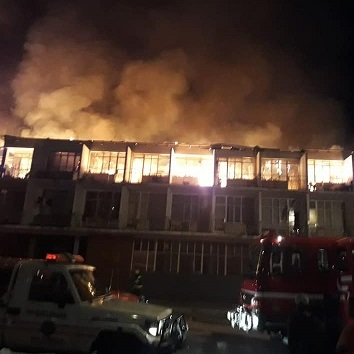 FIRE DESTROYS FLATS IN KLERKSDORP CBD